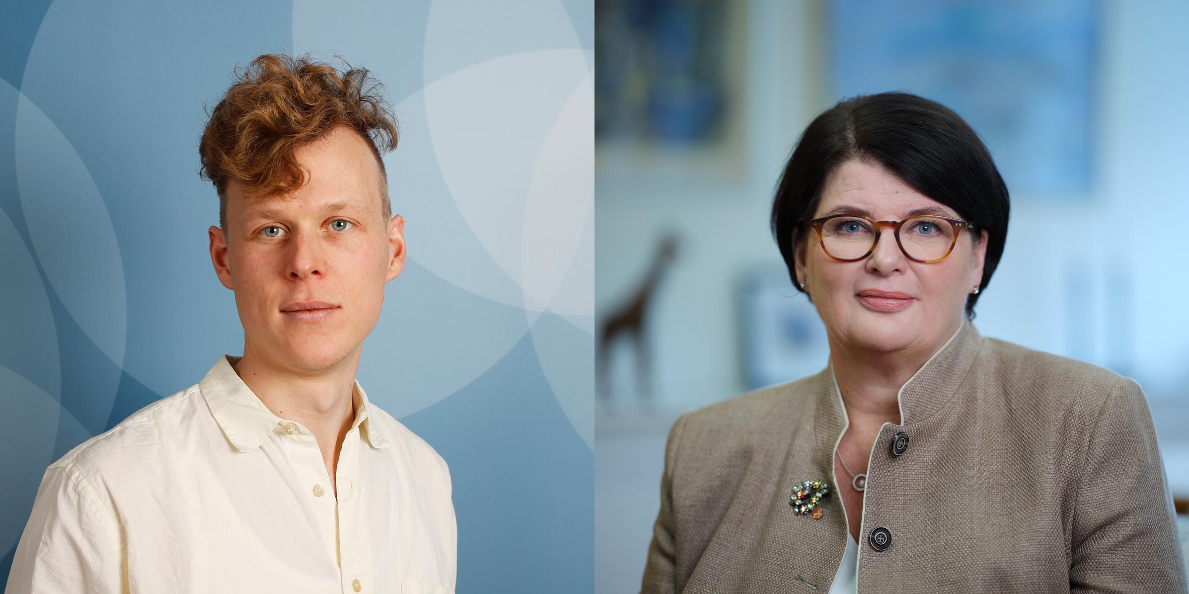 Simon Vinge och Heike Erkers