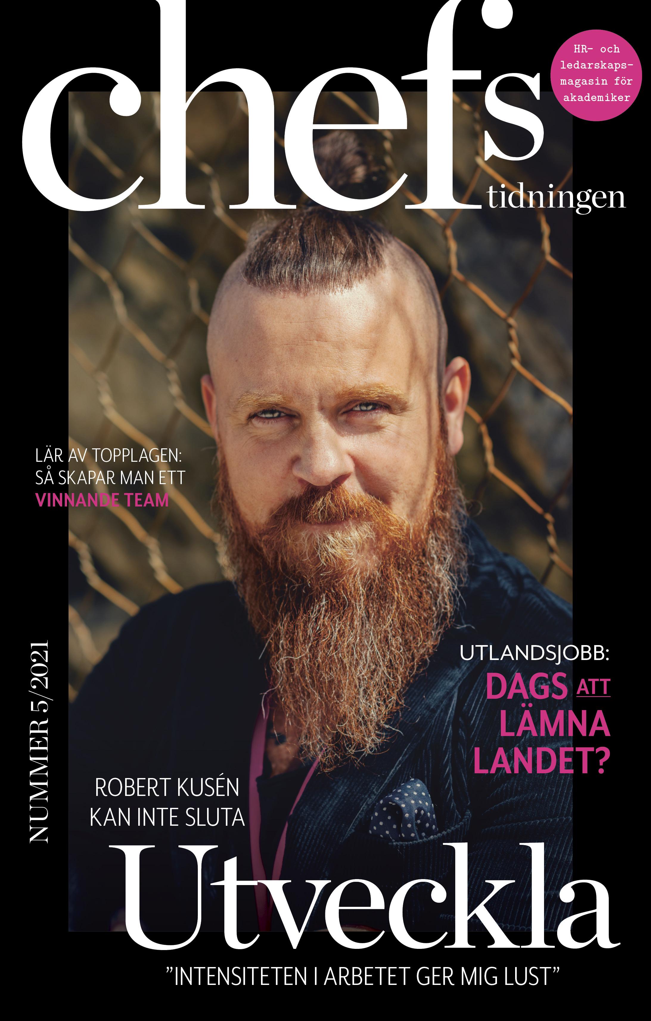Omslag av Chefstidningens nya nummer.