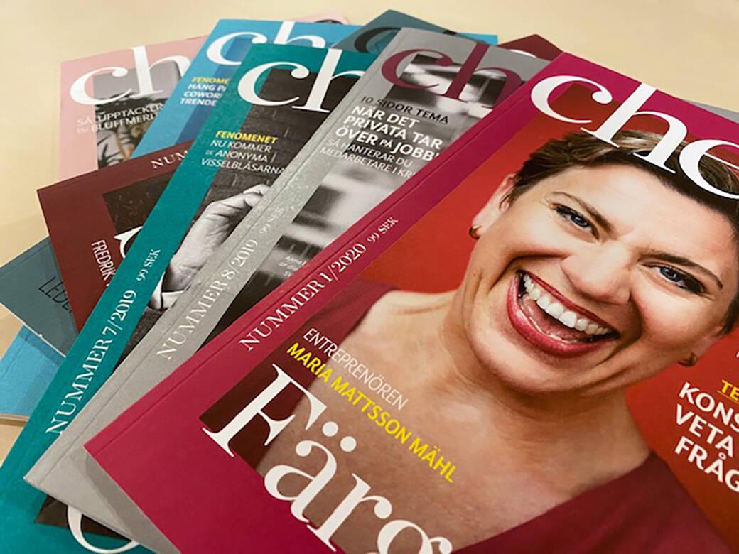 Flera nummer av Chefstidningen