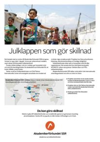 Affisch Solidaritetsfonden – Julklappen som gör skillnad