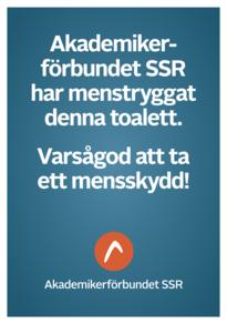 A4-affisch: Menstryggad toalett