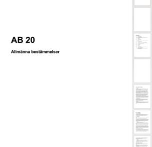 HÖK20 Allmänna Bestämmelser 2020-2024