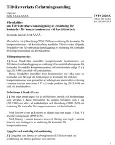 Föreskrifter om Tillväxtverkets handläggning av ersättning för kostnader för kompetensinsatser vid korttidsarbete