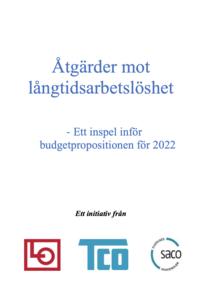 Åtgärder mot långtidsarbetslöshet - Ett inspel inför budgetpropositionen för 2022