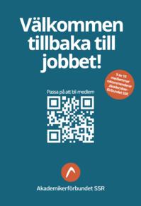 Affisch Välkommen tillbaka till jobbet, bli medlem