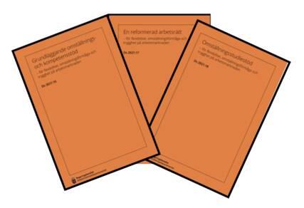 Tre bokstavsutredningar Ds 2021:16,17 &18