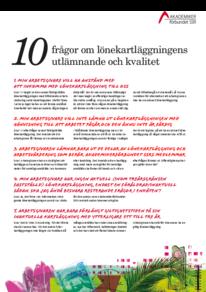10 frågor om utlämnandet och kvalitet på en lönekartläggning