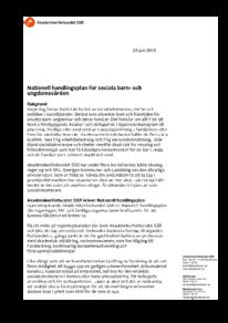 Nationell handlingsplan för sociala barn- och ungdomsvården