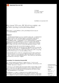 2016-01-26 Mål och myndighet – en effektiv styrning av jämställdhetspolitiken SOU 2015: 86