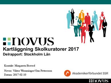 Skolkuratorer Sthlms län 2017 Novus