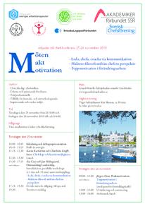 Program Chefskonferens 25-26 november 2010