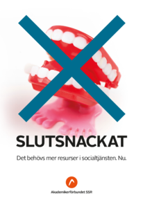 Affischer Slutsnackat A4