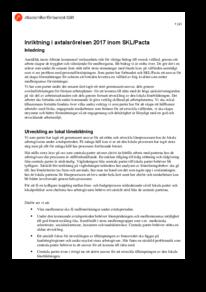 Inriktning i avtalsrörelsen 2017 inom SKL/Pacta
