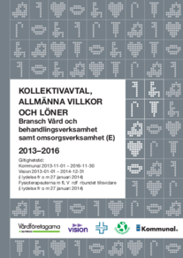 Almega Vårdföretagarna, Kollektivavtal, Allmänna villkor och Löneavtal, Bransch E – Vård och behandlingsverksamhet samt omsorgsverksamhet, 2013-2016