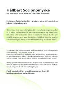 Broschyr: Hållbart socionomyrke