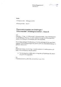 Förhandlingsprotokoll Villkorsavtal-T 2016-02-23