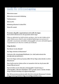 Guide för referenstagning