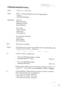 IDEA avtal 2017-2020 Förhandlings protokoll,löneavtal m m