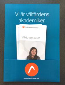 A4-affisch med ficka för foldrar (utan foldrar)