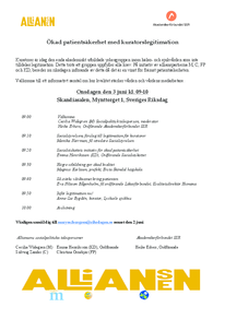 Hearing i riksdagen om legitimation för kuratorer - 3 juni 9:00-10:00