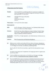 KFO förhandlingsprotokoll Industri Petroleum Fastighet 2013