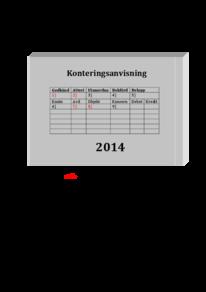 Konteringsanvisning 2014