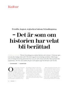 Intervju med Pernilla August