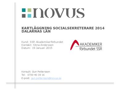 2015-01-19 Novus: Kartläggning socialsekreterare Dalarna