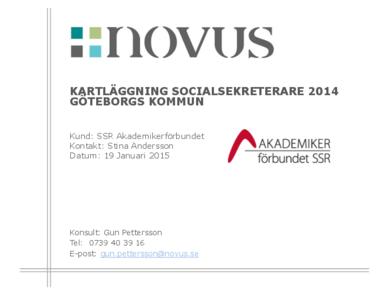 2015-01-19 Novus: Kartläggning socialsekreterare Göteborgs kommun