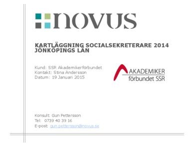 2015-01-19 Novus: Kartläggning socialsekreterare Jönköpings län