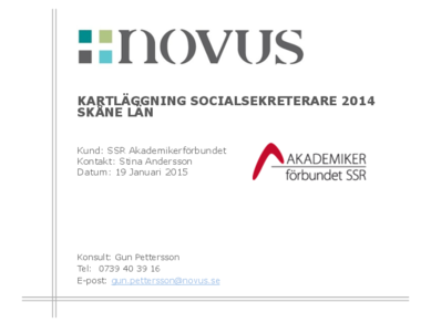 2015-01-19 Novus: Kartläggning socialsekreterare Skåne