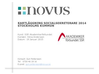 2015-01-19 Novus: Kartläggning socialsekreterare Stockholms stad