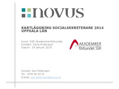 2015-01-19 Novus: Kartläggning socialsekreterare Uppsala län