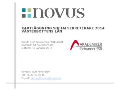 2015-01-19 Novus: Kartläggning socialsekreterare Västerbotten