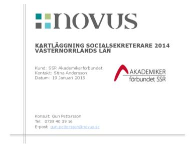 2015-01-19 Novus: Kartläggning socialsekreterare Västernorrland