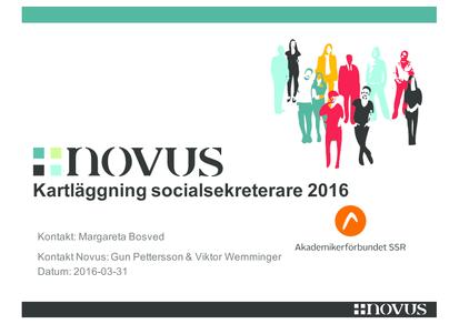 Novusundersökning socialsekreterare 2016