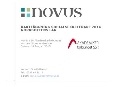 2015-01-19 Novus: Kartläggning socialsekreterare Norrbotten