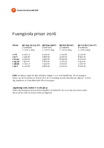Prislista Fuengirola 2016