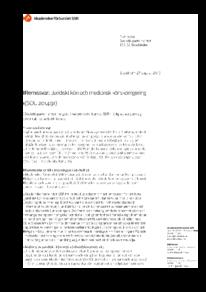 2015-08-31 Juridiskt kön och medicinsk könskorrigering (SOU 2014:91)