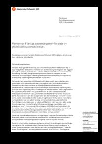 2016-01-20 Förslag avseende genomförande av yrkeskvalifikationsdirektivet