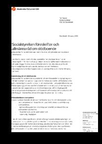2016-03-18 Socialstyrelsens förslag till föreskrifter och allmänna råd om stödboende 1953/2016