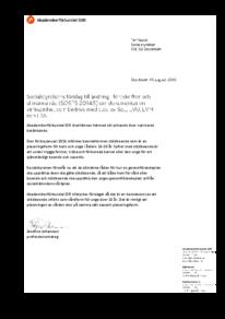 2016-08-10, Socialstyrelsens förslag till ändring i föreskrifter och allmänna råd (SOSFS 2014:5) om dokumentation i verksamhet som bedrivs med stöd av SoL, LVU, LVM och LSS