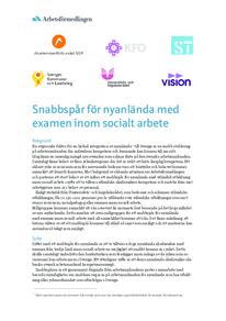 Snabbspår för nyanlända med examen inom socialt arbete