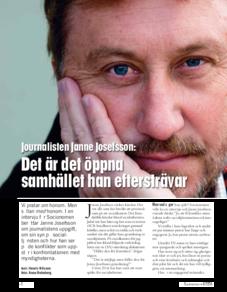 Intervju Janne Josefsson och Barbro Hindberg