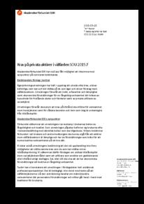 2015-05-28 Krav på privata aktörer i välfärden, SOU 2015:7