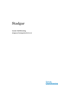 Svensk Chefsförenings stadgar