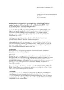 Svenska kyrkans avtal 2016 - yrkanden