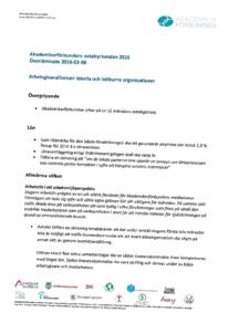 Våra avtalskrav till Arbetsgivaralliansen, IoIO