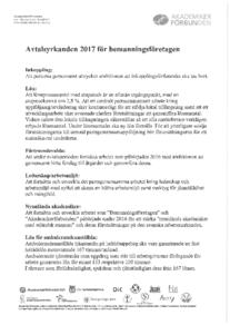 Akademikerförbundens yrkanden 2017